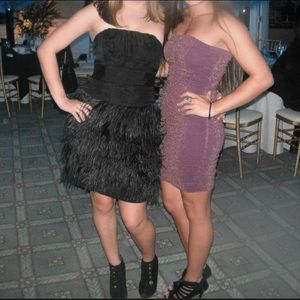 Feather Strapless Dress